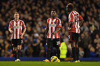 Football - 2012 / 2013 Premier League - Everton vs. Sunderland<br /> Stephane Sessegnon and Louis Saha of Sunderland look dejected following Everton's second goal at Goodison Park