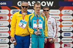 SMYRNOV Viktor, MAKOWSKI Wojciech Artur, ZALEVSKYY Dmytro UKR, POL at 2015 IPC Swimming World Championships -  Men's 100m Backstroke S11 PODIUM