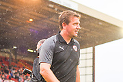 Daniel Stendel, Manager of Barnsley, during the Pre-Season Friendly match between Barnsley and Sheffield United at Oakwell, Barnsley, England on 27 July 2019.