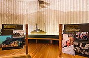 Visitor center display at Manzanar National Historic Site, Lone Pine, California USA