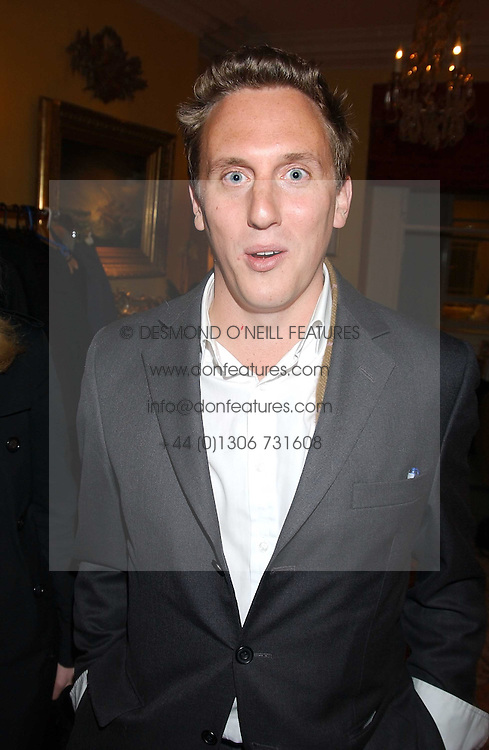 HARRY BECHER at a Conservative Party Reception for the Art held at 24 Thurloe Square, Lndon SW7 on 5th April 2005.<br />
