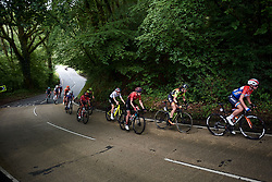 Hannah Barnes (GBR) in the early break on Stage 6 of 2019 OVO Women's Tour, a 125.9 km road race from Carmarthen to Pembrey, United Kingdom on June 15, 2019. Photo by Sean Robinson/velofocus.com
