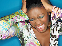 Stressed Woman Shouting