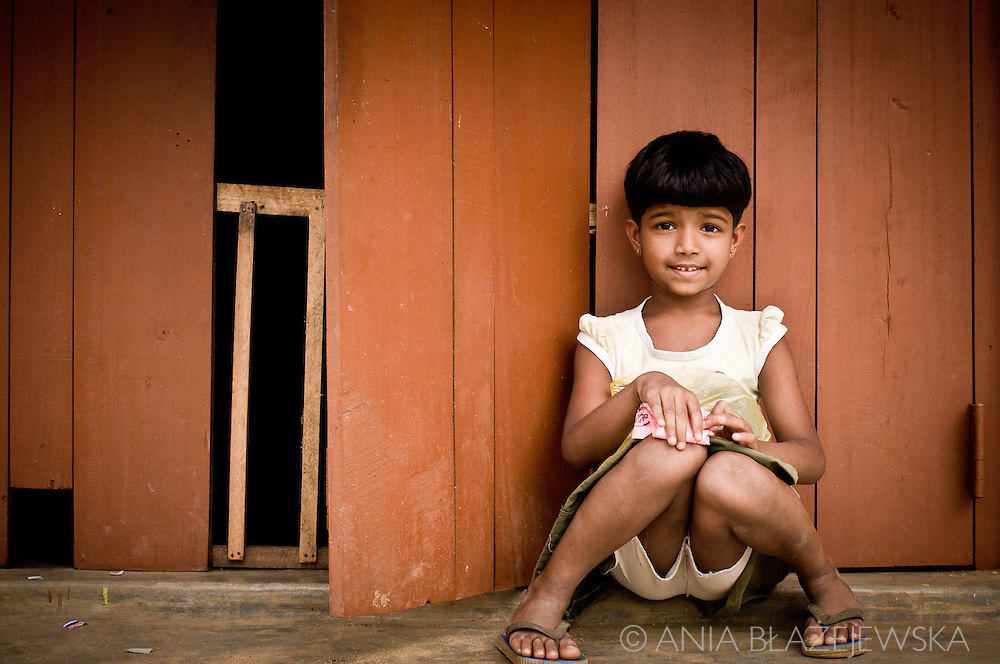 Sri Lanka. Little girl from Ella.
