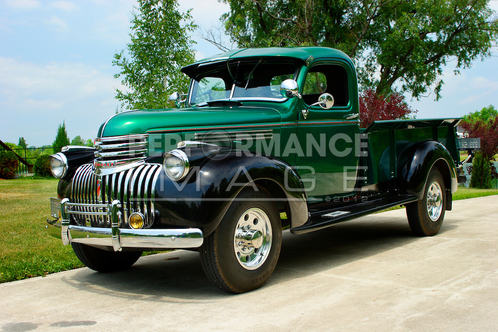 1946 chevrolet 3 4 ton pickup truck performance image quality stock photography. Black Bedroom Furniture Sets. Home Design Ideas