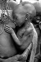 Famine in Karamoja, North-East Uganda in 1980. Photographed by Terry Fincher