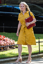London, UK. 23 July, 2019. Liz Truss MP, Chief Secretary to the Treasury, arrives at 10 Downing Street for the final Cabinet meeting of Theresa May's Premiership. The name of the new Conservative Party Leader, and so the new Prime Minister, will be announced at a special event following the meeting.
