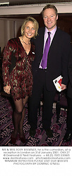 MR & MRS RORY BREMNER, he is the comedian, at a reception in London on 31st January 2001.OKX 27