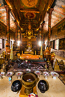 Wat Phnom is a sacred Buddhist pagoda prominently sitting atop a small hill  (at 89 feet it is the highest point in the city) in the Cambodian capital city of Phnom Penh. It was built in 1373.