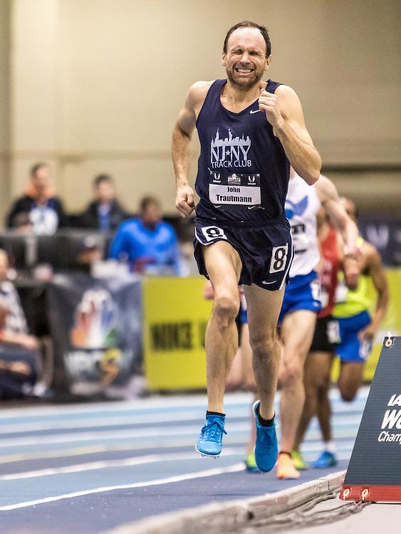 USATF Indoor Track & Field Championships: masters mens 1500, John Trautmann, NJNYTC
