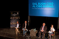 Roma 28 Aprile 2015<br /> Comunicare con Gusto<br /> Quando bontà e fiducia si incontrano<br /> Giovanni Rana, Presidente e fondatore del Pastificio Rana, con  Vincenzo Russo e Francesco Bozza, al teatro Vascello.<br /> Rome April 28, 2015<br /> Communicate with Gusto<br /> When goodness and  assurance meet<br /> Giovanni Rana, President and founder of the Pastificio Rana,   with Vincenzo Russo and Francesco Bozza, a Vascello theater.