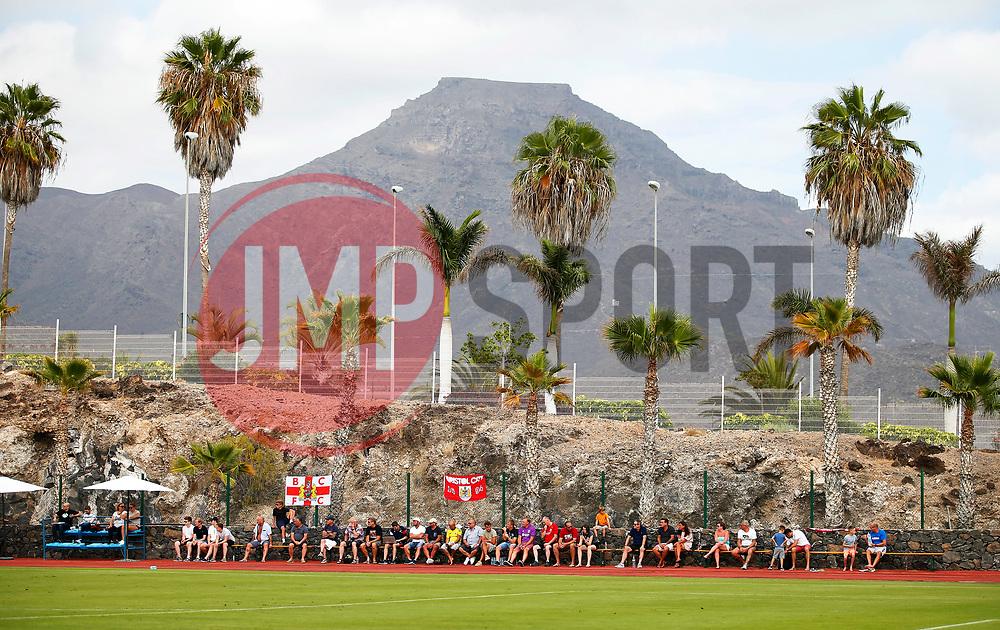 Bristol City fans watch the match pitch side - Mandatory by-line: Matt McNulty/JMP - 22/07/2017 - FOOTBALL - Tenerife Top Training - Costa Adeje, Tenerife - Bristol City v Atletico Union Guimar  - Pre-Season Friendly