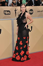 Emily Althaus arrives at the 24th annual Screen Actors Guild Awards at The Shrine Exposition Center on January 21, 2018 in Los Angeles, California. <br />