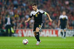 Eden Hazard of Belgium (Chelsea) in action - Photo mandatory by-line: Rogan Thomson/JMP - 07966 386802 - 12/06/2015 - SPORT - FOOTBALL - Cardiff, Wales - Cardiff City Stadium - Wales v Belgium - EURO 2016 Qualifier.