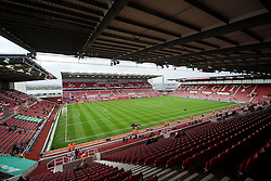 A general view of The Britannia Stadium, home of Stoke City FC - Mandatory byline: Matt McNulty/JMP - 07966 386802 - 05/12/2015 - FOOTBALL - Britannia Stadium - Stoke, England - Stoke City v Manchester City - Barclays Premier League