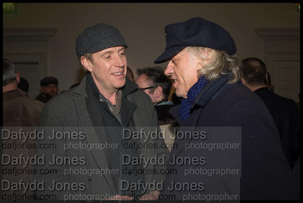 RHYDS IFANS; SIR BOB GELDOF, Private view, Paul Simonon- Wot no Bike, ICA Nash and Brandon Rooms, London. 20 January 2015