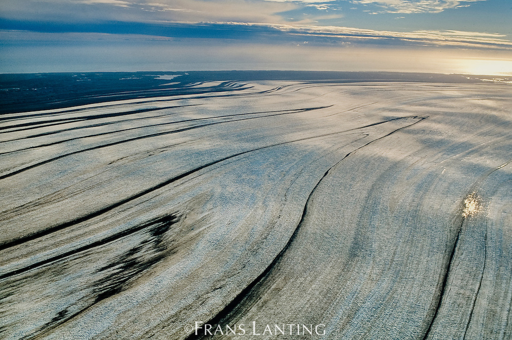 Malaspina Glacier (aerial), Wrangell-St. Elias National Park, Alaska