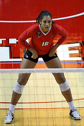 07 October 2017:  Lexi Varga during a college women's volleyball match between the Crusaders of Valparaiso and the Illinois State Redbirds at Redbird Arena in Normal IL (Photo by Alan Look)