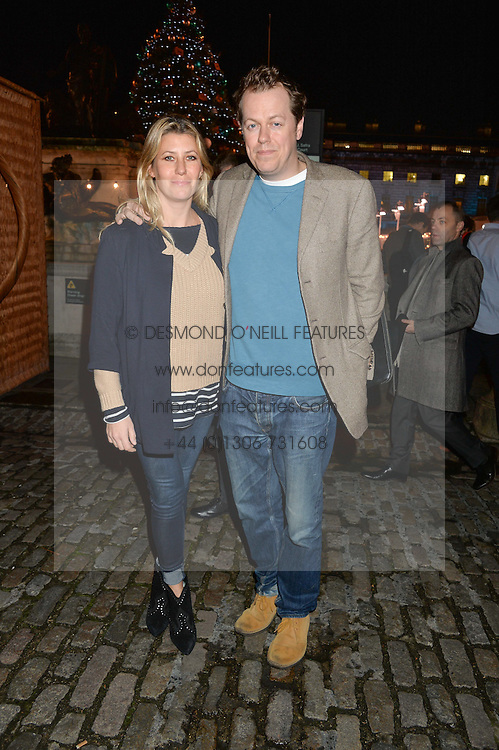 TOM & SARA PARKER BOWLES at Skate at Somerset House in association with Fortnum & Mason held on 10th November 2014.