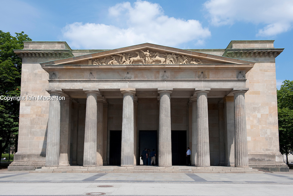 Exterior of  of Neue Wache war memorial in Mitte Berlin Germany