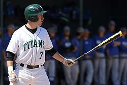 11 April 2015:  Nick Huskisson during an NCAA division 3 College Conference of Illinois and Wisconsin (CCIW) Pay in Baseball game during the Conference Championship series between the Millikin Big Blue and the Illinois Wesleyan Titans at Jack Horenberger Stadium, Bloomington IL