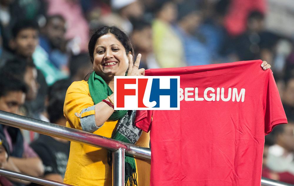 BHUBANESWAR - The Odisha Men's Hockey World League Final . Match ID 07,   Belgium v Spain. Supporter of Belgium WORLDSPORTPICS COPYRIGHT  KOEN SUYK