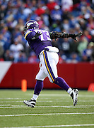 Minnesota Vikings defensive tackle Sharrif Floyd (73) celebrates after making a fourth quarter sack during the NFL week 7 regular season football game against the Buffalo Bills on Sunday, Oct. 19, 2014 in Orchard Park, N.Y. The Bills won the game 17-16. ©Paul Anthony Spinelli