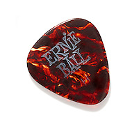 Ernie ball guitar pick on white background