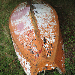 Painted Boat Bottom, Tumbo Island, Gulf Islands National Park Reserve, British Columbia, Canada