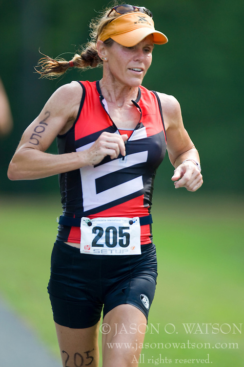 CHARLOTTESVILLE, VA - July 27, 2008 - ANDREA RANDLE in The 2008 Charlottesville International Triathlon was held at Walnut Creek Park in Albemarle County near Charlottesville, Virginia, USA.