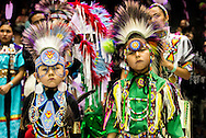 Gathering of Nations Pow Wow, Chippewa Cree, boys, kids, Traditional Dancer, Albuquerque, New Mexico