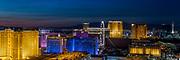 nighttime Panoramic view of the Las Vegas Strip, NV, USA