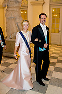 26-5-2018 COPENHAGEN - Princess Marie-Chantal of Greece, Pavlos Crown Prince Pavlos Galanight at the Crown Prince Frederik as he celebrates his 50th birthday during a Gala dinner at Christiansborg Castle in Copenhagen, Denmark, 26 May 2018. Crown Prince Frederik turns 50.  Copenhagen, on May 26, 2018, on the occasion of Crown Prince Frederik of Denmark 50th birthday  ROBIN UTRECHT