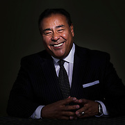 UVU Commencement speaker John Quinones  portrait in the studio on the campus of Utah Valley University in Orem, Utah, Thursday, April 28, 2016. (August Miller, UVU Marketing)