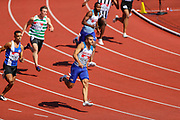 Adam GEMILI competes in heat 1 of the Men's 100m during the Muller British Athletics Championships at Alexander Stadium, Birmingham, United Kingdom on 25 August 2019.