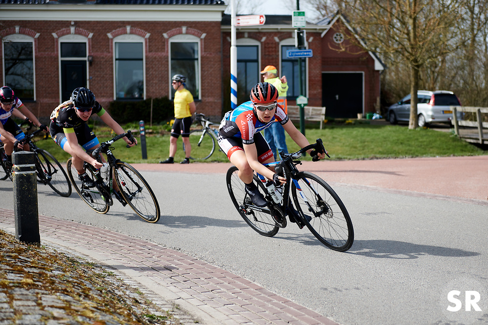 Gabrielle Pilote Fortin (CAN) at Healthy Ageing Tour 2018 - Stage 4, a 143 km road race starting and finishing in Winsum on April 7, 2018. Photo by Sean Robinson/Velofocus.com