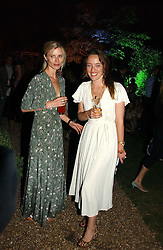 Left to right, Model LAURA BAILEY and ALICE TEMPERLEY at the Quintessentially Summer Party held at Debenham House, 8 Addison Road, London W14 on 15th June 2006.<br />