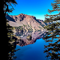 Phantom Ship Reflection--Crater Lake, Oregon