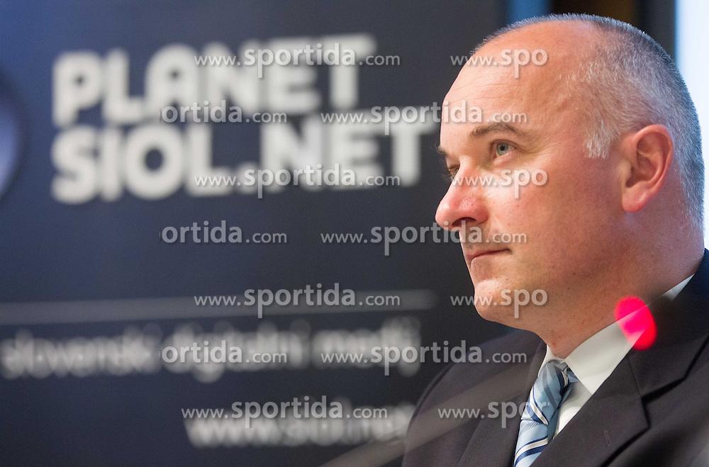 Bogdan Fink of KK Adria Mobil during press conference of cycling race Tour de Slovenie 2013, on May 9, 2013, in Telekom Slovenije, Ljubljana, Slovenia. (Photo By Vid Ponikvar / Sportida.com)
