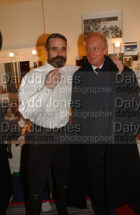 Jeremy irons and Charles Dance. Opening night of Embers, Duke of York's theatre. St. Martin's Lane. London. 1 March 2006. ONE TIME USE ONLY - DO NOT ARCHIVE  © Copyright Photograph by Dafydd Jones 66 Stockwell Park Rd. London SW9 0DA Tel 020 7733 0108 www.dafjones.com
