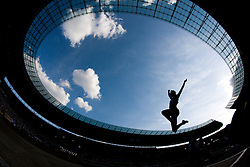 An athlete competes in the women's Long Jump Final during day nine of the 12th IAAF World Athletics Championships at the Olympic Stadium on August 23, 2009 in Berlin, Germany. (Photo by Vid Ponikvar / Sportida)