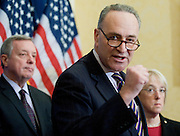 "Feb 3, 2011 - Washington, District of Columbia, U.S. - Senator CHUCK SCHUMER (D-NY) during a news conference to ""urge Republicans to join in a responsible approach to deficit reduction, and drop threats to force a government shutdown that would have disastrous consequences for the economy.""(Credit Image: © Pete Marovich/ZUMA Press)"