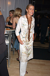 INDIA HICKS at party in aid of cancer charity Clic Sargent held at the Sanderson Hotel, Berners Street, London on 4th July 2005.<br /><br />NON EXCLUSIVE - WORLD RIGHTS