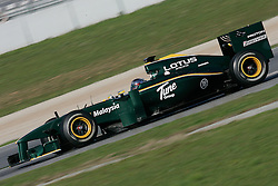 26.02.2010, Circuit de Catalunya, Barcelona, ESP, Formel 1 Tests, im Bild Jarno Trulli - Lotus racing team F1, EXPA Pictures © 2010, PhotoCredit: EXPA/ InsideFoto/ Semedia / SPORTIDA PHOTO AGENCY