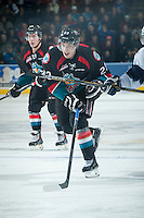 KELOWNA, CANADA - DECEMBER 3: Justin Kirkland #23 of Kelowna Rockets skates against the Saskatoon Blades on December 3, 2014 at Prospera Place in Kelowna, British Columbia, Canada.  (Photo by Marissa Baecker/Shoot the Breeze)  *** Local Caption *** Justin Kirkland;