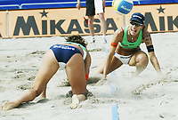 Volleyball, Sandvolleyball, World Tour Stavanger, Grand Slam, 02/07-05, <br />Brasilianske Adriana Behar og Shelda Bedê, <br />Foto: Halvard Hofsmo, Digitalsport