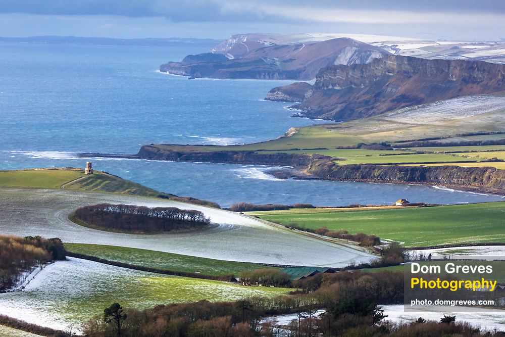 Clavell Tower above Kimmeridge Bay on the Purbeck coast. Dorset, UK.