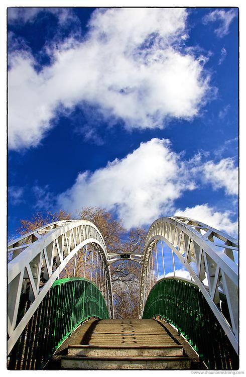 Victorian Suspension Bridge, The Embankment, Bedford UK