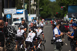 Team Sunweb riders head out for loop on the course before Stage 3 of the Amgen Tour of California - a 70 km road race, starting and finishing in Sacramento on May 19, 2018, in California, United States. (Photo by Balint Hamvas/Velofocus.com)
