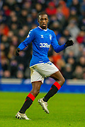 Glen Kamara (#18) of Rangers FC during the Ladbrokes Scottish Premiership match between Rangers FC and Heart of Midlothian FC at Ibrox Park, Glasgow, Scotland on 1 December 2019.